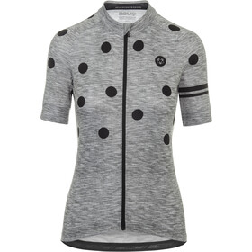 AGU Essential Dot Shortsleeve Jersey Damer, grey/black